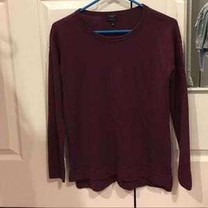 100% Merino wool dark magenta Talbots sweater